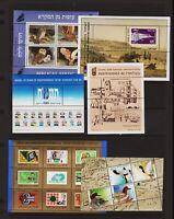 Israel - 8 Souvenir sheets, Mint, NH, cat. $ 51.00 - see 2 scans !