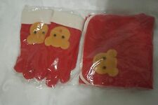 Scarf and Gloves Set  Winter Girls 5-10 years Red & White New