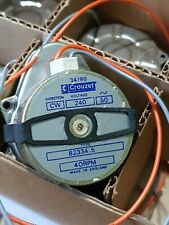Crouzet 240v 50hz 40rpm motor and gearbox 4ORPM