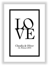 Geschenkidee zum Valentinstag Hochzeitstag Hochzeit Jahrestag Heirat Verlobung