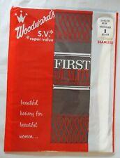 "Vintage-New Stockings Nylons Size 9 Medium ""Paris Black"" Seamless Mesh Rt Toe"