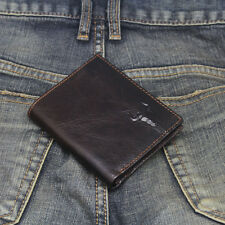 New Mens Wallet KOREA -117 Small Mini Trifold Leather Card Holder Zip Coin Purse