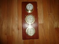 New listing Vintage Sunbeam Weather Station Barometer Thermometer Humidity Made in Usa