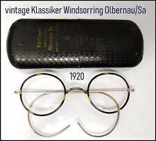 Oldtimer Klassiker  Brille  Windsorring 1920 Federbügel Optiker 11,5 cm breit