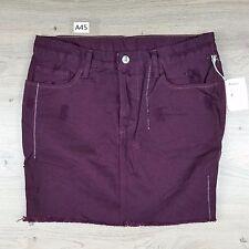 Tsubi Women's Mini Skirt Purple Zip Distressed Size 10 NWT W31 L15 Ksubi (A45)