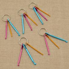 5 Sets Multi Coloured Crochet Hooks Needles Knitting Set Aluminum 3mm/4mm/5mm