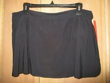 NEW Magicsuit by MIRACLESUIT 16 Black SWIMSUIT SKIRT Skirted Bottom $74 Retail