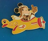Disney Travel Company Mickey Yellow Airplane Pin Aviator 100 Years of Magic Pin