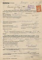 Lot Stamp Germany Poland Revenue WWII 3rd Reich Court Document 1 Used