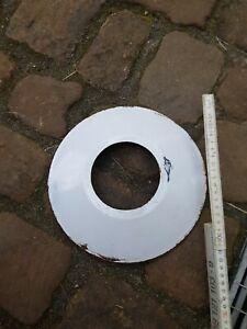 Alter Email Schirm Lampe D 24,5 cm, Außenlampe Hof
