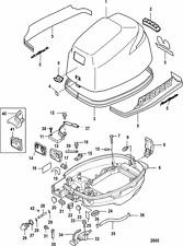 Mercury Marine Outboard Motor 9.9 Horsepower HP Parts List Diagram / Catalog !