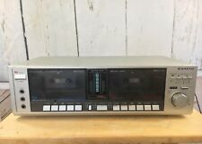 Vintage Sanyo Stereo Dual Cassette Deck Model RD W55