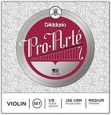 D'Addario Pro-Arte Violin String Set, 1/8 Scale, Medium Tension