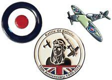 RAF Battle of Britain Set Spitfire Target Roundel 75th Anniversary Enamel Badges