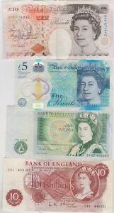 O'BRIEN 10/-, SOMERSET £1, CLELAND £5 & KENTFIELD £10 IN VERY FINE CONDITION