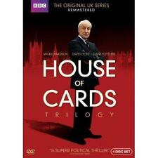 House of Cards Trilogy: The Original UK Series (DVD, 2013, 3-Disc Set) NEW