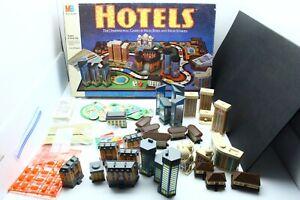 Vintage 1987 Milton Bradley HOTELS Board Game Complete w/ All Buildings