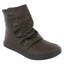Blowfish Malibu Rabbit Boots Womens Ankle Button Detail Winter Shoes Flats