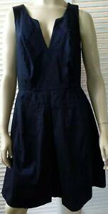 CITY CHIC ladies plus size Small dress black pinafore stretch pockets pleat