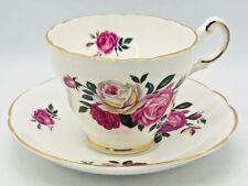 Vintage Regency Decorative Bone China Red Rose Floral Tea Cup And Saucer