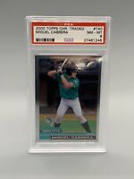 ❤️2000 Topps Chrome Traded #T40 Miguel Cabrera Marlins RC Rookie PSA 8 NM-MT ❤️