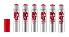 Maybelline Baby Lips Color Balm Crayon #25 Refreshing Red (Pack of 6)