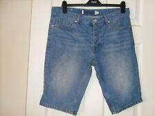 "Topman Mid 7 to 13"" Inseam Denim Shorts for Men"
