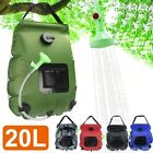 20L Solar Heating Camp Shower Bag Water Heater Outdoor Hiking Folding Portable