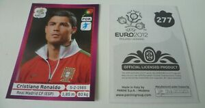 PANINI EURO 2012 CRISTIANO RONALDO CR7 STICKER NO 277