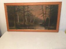 Antique Signed F Matzow Landscape Painting Listed Handel Lamp Artist