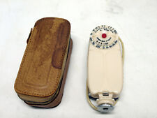Rainbow Pocket Flash Gun Leather Case Vintage Japan Made Mid Century Camera