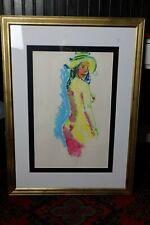 Original large pastel nude by Dutch artist Juul Neumann (1919 - 1997)