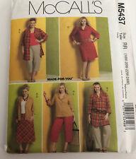 McCalls Pattern M5437 Women's shirt, Dress, Skirt & Pants Size RR18W-24W