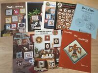 Lot of 8 Vintage Cross Stitch Booklets -Southwest, Hex Signs, Tribal, Engelbreit
