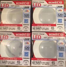 "4"" LED Recessed Can Light Retrofit Kits Dimmable 2700K Soft White"