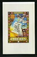 Liberia Stamps 1949 Unissued Arthur Szyk Miniature Stamp S/S Only 20 Made