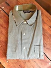 New NWT Green Polo Ralph Lauren Marlowe Men's Sz. XXL Button Silk Blend Shirt