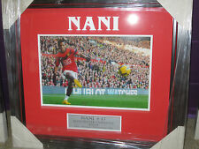 "Nani unsigned Manchester United  8""x10"" photo framed with plaque"