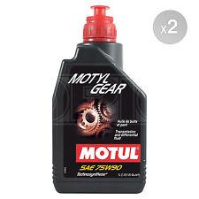 Motul Motylgear 75W-90 Fluid 75W90 Gearbox Diff Oil 2 x 1 Litre 2L