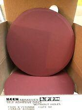 """Box of 50- 500 Grit 6"""" STICKY TAB wet dry sandpaper KEEN Abrasives #36253"""