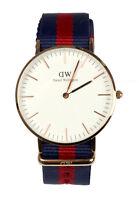 DW Daniel Wellington Uhr Oxford DW00100029 Edelstahl Rosegold Band Blau Rot