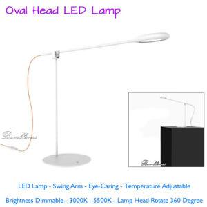 4VWIN LED Desk Lamp Swing Arm Eye-Caring Table Lamps Temperature Adjustable 360