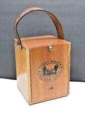 Scarce Tommy Bahama Pelican Wooden Cigars Box Purse Hand Bag Handmade Leather