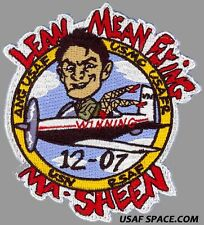 USAF PILOT TRAINING CLASS 2012-07 LEAN MEAN FLYING MA-SHEEN ORIGINAL PATCH