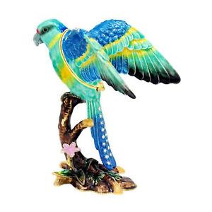 Australian Ringneck Parrot Jewelled Bird Trinket Box