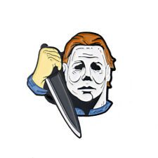 Creepy Michael Myers Enamel Pin Movie Halloween Horror Badge Lapel Clothes Gifts