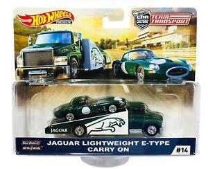 Hot Wheels  Car Culture Team Transport Jaguar Lightweight E-Type Carry On