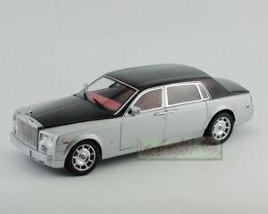 1:18 Rolls Royce phantom Silver&Black Diecast Car model Very Rare !