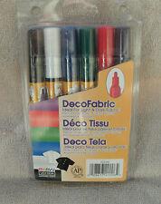Marvy® Uchida DecoFabric Markers Primary Colors 6-Pack ~ NEW