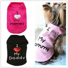 "Dog Puppy Shirt Pet Clothes Clothing "" I Love My Mommy Daddy"" for Yorkie Maltese"